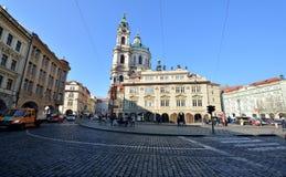 Sankt- Nikolauskirche, Prag Stockfoto