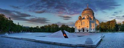 Sankt- Nikolausmarinekathedrale in Kronstadt lizenzfreies stockbild