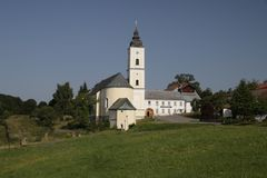 Sankt Oswald kloster Arkivfoton