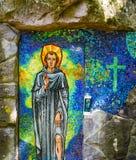 Sankt Peregrine relikskrin arkivbild