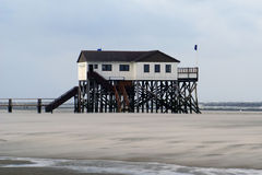 Sankt Peter-Ording beach house Stock Image