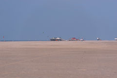 Sankt Peter-Ording beach Royalty Free Stock Photo