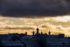 Sankt-Peterburg de winterlandschap royalty-vrije stock afbeeldingen