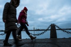 Sankt-Peterburg de winterlandschap Stock Afbeelding