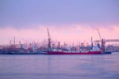 Sankt-Peterburg harbour Stock Images