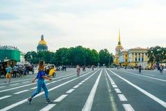 Dvortsovaya square in Sankt-peterburg Stock Images