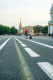 Dvortsovaya square in Sankt-peterburg Stock Image