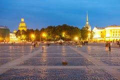 Dvortsovaya square in Sankt-peterburg Royalty Free Stock Images