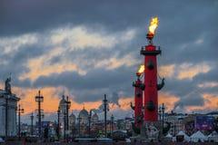 Sankt-Peterburg vinterlandskap fotografering för bildbyråer