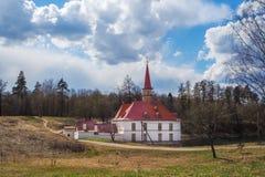 Sankt-Petersburgo La ciudad de Gatchina El castillo del priorato Primavera 2017 Imagen de archivo