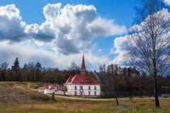 Sankt-Petersburgo La ciudad de Gatchina El castillo del priorato Primavera 2017 Imagen de archivo libre de regalías