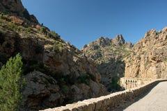 Sankt régina Durchlauf in Korsika stockfotografie