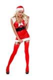 Sankt reizvoller Weihnachtshelfer Stockfoto