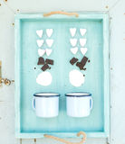 Sankt valentin matlagning för varm choklad för ferie royaltyfri foto