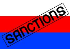 Sanktionen für Russland eins Lizenzfreie Stockbilder