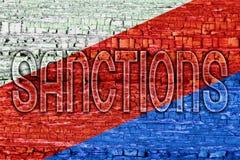 Sanktionen von Russland drei Stockbilder