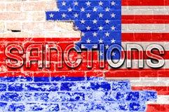 Sanktionen von Russland eins Lizenzfreie Stockfotos