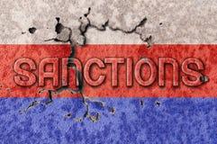 Sanktionen von Russland zwei Stockfoto