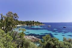 Sanktt-Clair franska Riviera, Frankrike, Europa royaltyfria bilder