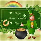 Sanktt Patrick dags kort Royaltyfri Bild