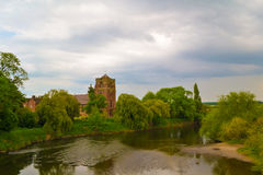 Sanktt Eata kyrka i Atcham, Shropshire Arkivbild