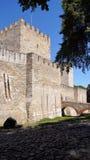 Sanktt Georges slott i Lisbon Fotografering för Bildbyråer