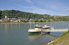 Sanktt Goar, Rhine flod, Tyskland royaltyfria foton