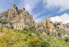 Sanktt Hilarion slott, Kyrenia, Cypern Royaltyfri Bild