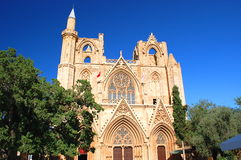 Sanktt Nicolas domkyrka i Famagusta, Cypern Arkivfoto
