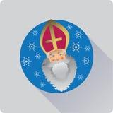 Sanktt nicolas symbol stock illustrationer