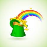 Sanktt Patricks hatt royaltyfri illustrationer