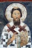 Sanktt Sava, fresco från kloster Mileseva Royaltyfria Bilder