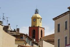 Sanktt Tropez, församlingkyrka, sydliga Frankrike, Europa Arkivbilder