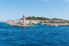 Sanktt Tropez hamn Arkivfoton