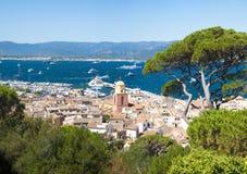 Sanktt Tropez stad, Frankrike arkivfoton