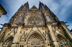 Sanktt Vitus domkyrka Prague Arkivbilder