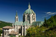 Sanktuarium Castel Petroso Zdjęcie Stock