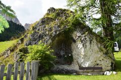 Sanktuarium, Dolomiti góry Zdjęcia Stock