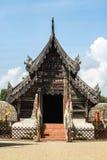 Sanktuarium drewno buduje świątynną budowę w Chiang Mai, Tha Zdjęcie Stock