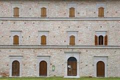 Sanktuarium Macereto, architektoniczni szczegóły Fotografia Royalty Free