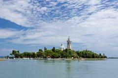 Sanktuarium na wyspie Barbana Grado, Włochy, - Obraz Stock