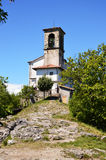 Sanktuarium Santuario della madonny della Ceriola w Monte Isola na Jeziornym Iseo, Włochy Zdjęcie Stock