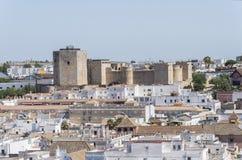 Sanlucar de Barrameda,卡迪士,西班牙圣地亚哥城堡  免版税库存照片