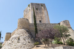 Sanlucar de Barrameda,卡迪士,西班牙圣地亚哥城堡  库存图片