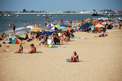 Sanlucar de Barrameda beach. Stock Photos