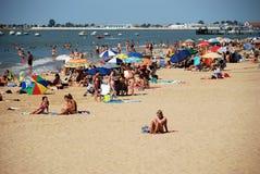 Sanlucar de Barrameda beach. Stock Photos