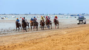 Sanlucar de Barrameda Carrera de Caballos Horse Race Royalty Free Stock Photos