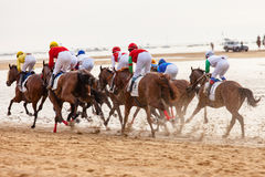 Sanlucar de Barrameda Horse αγώνας Στοκ φωτογραφία με δικαίωμα ελεύθερης χρήσης