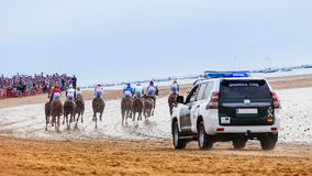 Sanlucar de Barrameda Horse Race Royalty Free Stock Photo