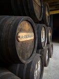 SANLUCAR DE BARRAMEDA, SPANJE - APRIL 12, 2015 - Cigarrera-Wijn c Stock Afbeeldingen